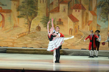 don quijote: DNIPRO, UKRAINE - NOVEMBER  5, 2016: Don Quixote ballet performed by members of the Dnipropetrovsk Opera and Ballet Theatre.