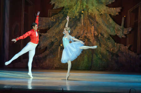 balletic: DNIPROPETROVSK, UKRAINE - DECEMBER 20, 2015: Nutcracker ballet performed by members of the Dnipropetrovsk Opera and Ballet Theatre ballet
