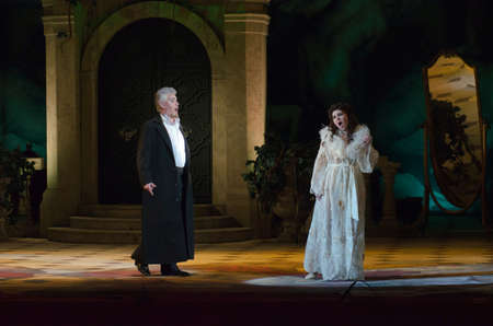 igor: DNIPROPETROVSK, UKRAINE - APRIL 17, 2016: Traviata opera performed by members of the Dnipropetrovsk Opera and Ballet Theatre.