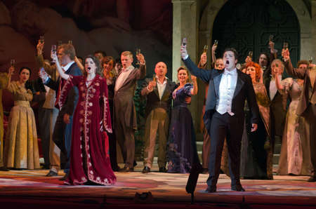igor: DNIPROPETROVSK, UKRAINE - APRIL 15, 2016: Traviata opera performed by members of the Dnipropetrovsk Opera and Ballet Theatre.