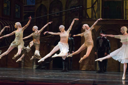 balletic: DNIPRO, UKRAINE - NOVEMBER 27, 2016: Carmen and Jose ballet performed by members of the Dnipro  State Opera and Ballet Theatre.