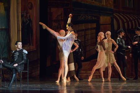 DNIPRO, UKRAINE - NOVEMBER 27, 2016: Carmen and Jose ballet performed by members of the Dnipro  State Opera and Ballet Theatre.