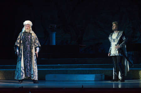 december 25: DNIPRO, UKRAINE - DECEMBER 25, 2016: Iolanta opera performed by members of the Dnipro Opera and Ballet Theatre.