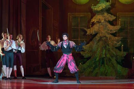 balletic: DNIPRO, UKRAINE - DECEMBER 30, 2016: Nutcracker ballet performed by Dnipro Opera and Ballet Theatre ballet.