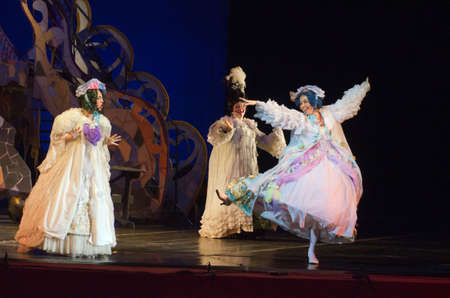 cinderella: DNIPRO, UKRAINE - JANUARY 5, 2017: Musical play Cinderella performed by members of the Dnipro Opera and Ballet Theatre.