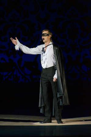 mister: DNIPROPETROVSK, UKRAINE - DECEMBER 26: Member of the Dnipropetrovsk State Opera and Ballet Theatre performs MISTER X on December 26, 2014 in Dnipropetrovsk, Ukraine Editorial
