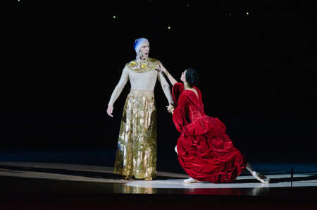 DNIPROPETROVSK, UKRAINE - DECEMBER 26: Members of the Dnipropetrovsk State Opera and Ballet Theatre perform CARMINA BURANA on December 26, 2014 in Dnipropetrovsk, Ukraine