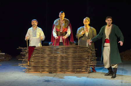 nikolay: DNIPRO, UKRAINE - FEBRUARY 4, 2017: Pannochka performed by members of the Dnipro Youth Theatre VERIM!.