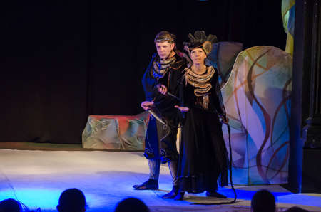 DNIPRO, UKRAINE - JUNE 17, 2017: Rikki Tikki Tavi performed by members of the Dnipro Youth Theatre Small Stage.