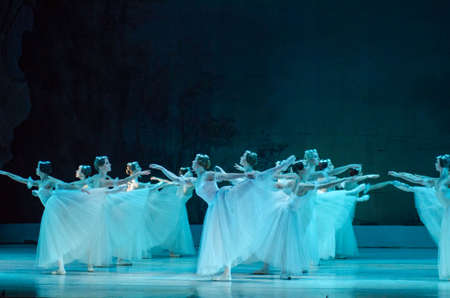 DNIPRO, UKRAINE - NOVEMBER 19, 2017: Classical ballet Giselle performed by members of the Dnipro Opera and Ballet Theater. Editorial