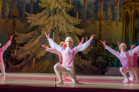 DNIPRO, UKRAINE - FEBRUARY 15, 2019: Nutcracker ballet performed by members of the Dnipro Opera and Ballet Theatre. Editorial