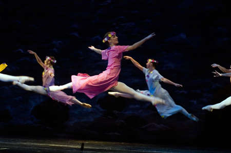 """DNEPROPETROVSK, UKRAINE - OCTOBER 23: """"Le Corsaire"""" ballet performed by Dnepropetrovsk Opera and Ballet Theatre ballet on October 23, 2011 in Dnepropetrovsk, Ukraine."""