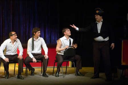 "DNEPROPETROVSK, UKRAINE - NOVEMBER 25: Members of the Dnepropetrovsk Youth Theatre ""Verim"" perform ""Raven"" on November 25, 2012 in Dnepropetrovsk, Ukraine Sajtókép"