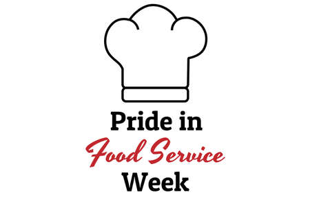 Pride in Food Service Week concept banner. Template for background, banner, card, poster with text inscription. Vector EPS10 illustration.