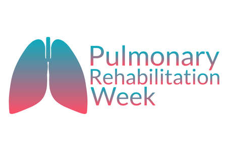 Pulmonary Rehabilitation Week concept. Template for background, banner, card, poster with text inscription. Vector illustration.