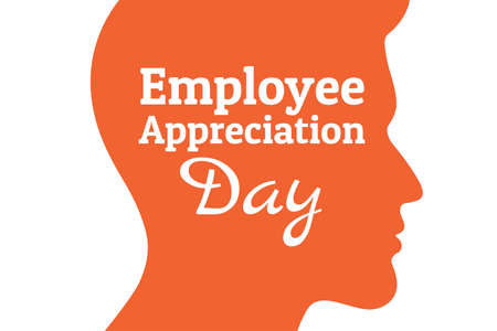 Employee Appreciation Day concept. First Friday in March. Holiday concept. Template for background, banner, card, poster with text inscription. Vector EPS10 illustration. .