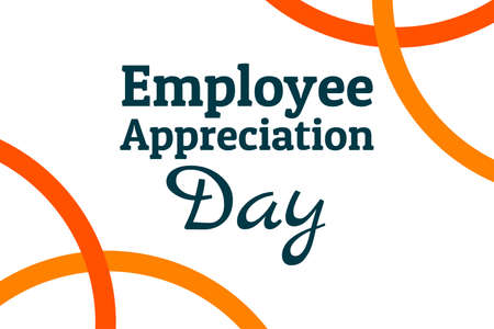 Employee Appreciation Day concept. First Friday in March. Holiday concept. Template for background, banner, card, poster with text inscription. Vector EPS10 illustration. Illusztráció