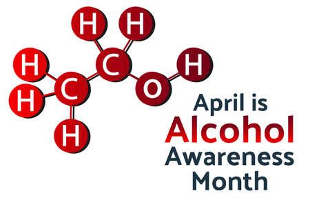 April is Alcohol Awareness Month concept. Template for background, banner, card, poster with text inscription. V Ilustrace