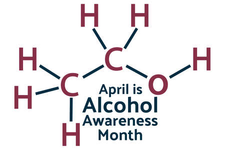 April is Alcohol Awareness Month concept. Template for background, banner, card, poster with text inscription.