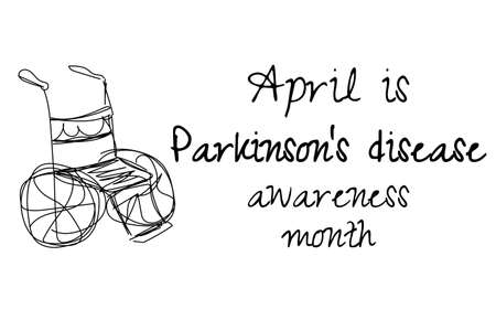 April is Parkinsons disease awareness month. Template for background, banner, card, poster with text inscription. Ilustrace