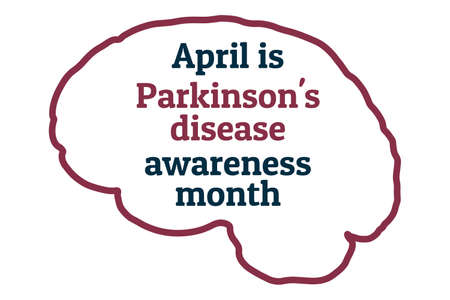 April is Parkinsons disease awareness month. Template for background, banner, card, poster with text inscription. Vector EPS10 illustration. Vector Illustratie