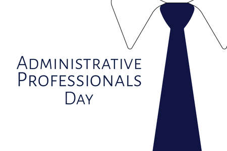 Administrative Professionals Day, Secretaries Day or Admin Day. Holiday concept. Template for background, banner, card, poster with text inscription. Vector EPS10 illustration.