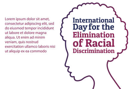 The International Day for the Elimination of Racial Discrimination. 21 March. Holiday concept. Template for background, banner, card, poster with text inscription. Vector EPS10 illustration. 矢量图像