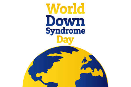 World Down Syndrome Day - WDSD. March 21. Holiday concept. Template for background, banner, card, poster with text inscription. Vector EPS10 illustration. Stock Illustratie