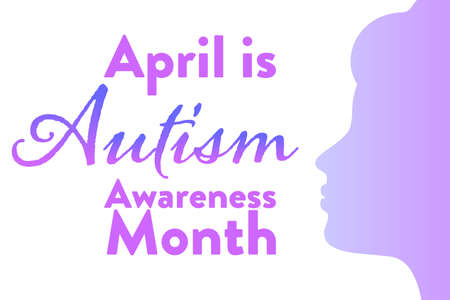 April is Autism Awareness Month. Holiday concept. Template for background, banner, card, poster with text inscription. Vector EPS10 illustration.