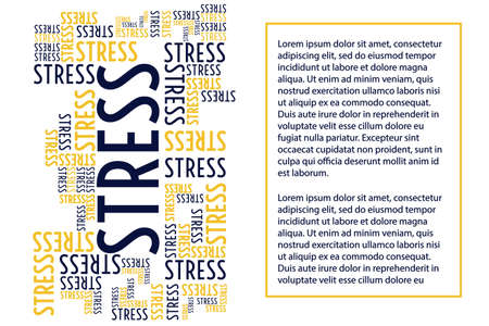 April is Stress Awareness Month. Holiday concept. Template for background, banner, card, poster with text inscription. Vector EPS10 illustration.