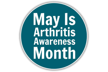 May is National Arthritis Awareness Month. Holiday concept. Template for background, banner, card, poster with text inscription. Vector EPS10 illustration.