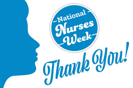 National Nurses Week. Holiday concept. Template for background, banner, card, poster with text inscription. Vector illustration.