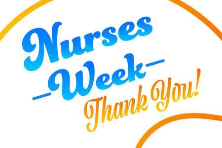 National Nurses Week. Holiday concept. Template for background, banner, card, poster with text inscription. Vector illustration. Ilustración de vector
