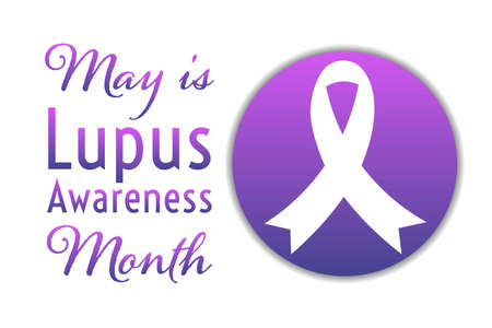May is Lupus Awareness Month. Holiday concept. Template for background, banner, card, poster with text inscription. Vector illustration.