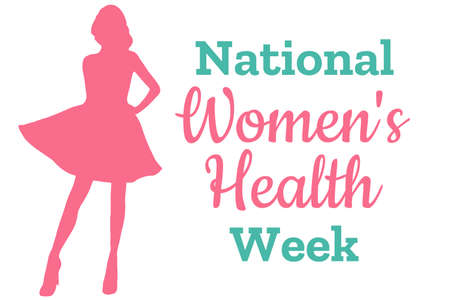 National Women's Health Week. May. Holiday concept. Template for background, banner, card, poster with text inscription. Vector EPS10 illustration Vettoriali