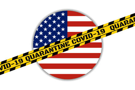 Self quarantine and and social distancing concept. Stay home. COVID-19 coronavirus. Template for background, banner, poster with text inscription. Vector EPS10 illustration.