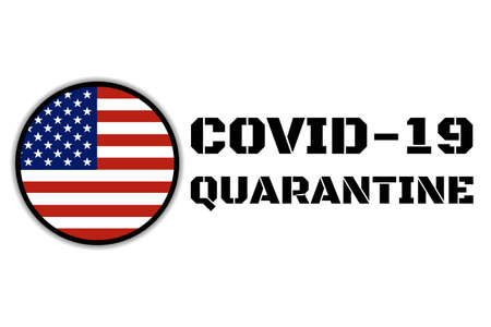 Quarantine and and social distancing concept. Stay home. COVID-19 coronavirus. Template for background, banner, poster with text inscription. Vector EPS10 illustration.