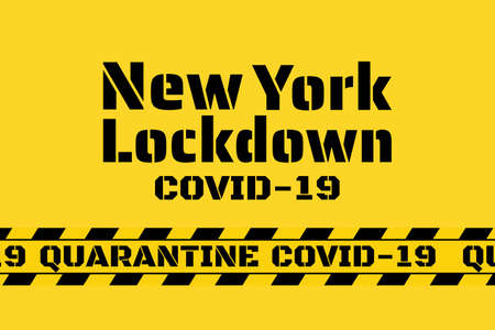 New York City - quarantine, lockdown and and social distancing concept. Stay home. COVID-19 coronavirus. Template for background, banner, poster with text inscription. Vector EPS10 illustration.