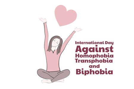 The International Day Against Homophobia, Transphobia and Biphobia. May 17. IDAHOT. Holiday concept. Template for background, banner, card, poster with text inscription. Vector EPS10 illustration Vettoriali