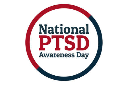 National PTSD Awareness Day concept. June 27. Template for background, banner, card, poster with text inscription. Vector EPS10 illustration. . Vektorové ilustrace