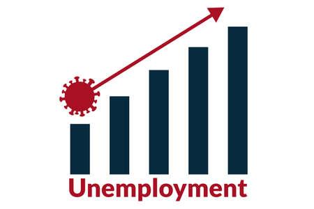 Unemployment concept. Template for background, banner, poster with text inscription. Vector EPS10 illustration. Ilustración de vector
