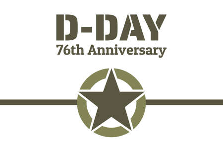 D-Day. Normandy landings concept. Template for background, banner, card, poster with text inscription. Vector Vettoriali