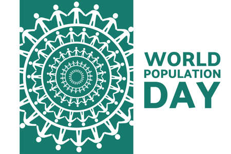 World Population Day. July 11. Holiday concept. Template for background, banner, card, poster with text inscription. Vector EPS10 illustration.