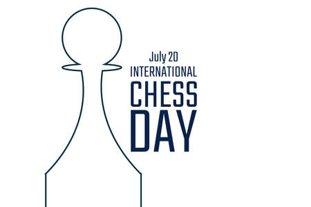 International Chess Day. July 20. Holiday concept. Template for background, banner, card, poster with text inscription.