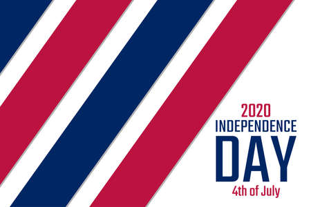 Independence Day in The United States of America, USA. 4th of July. Holiday concept. Template for background, banner, card, poster with text inscription. Vector EPS10 illustration.