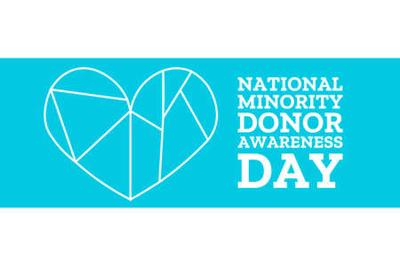 National Minority Donor Awareness Day. August 1. Holiday concept. Template for background, banner, card, poster with text inscription. Reklamní fotografie - 151318674