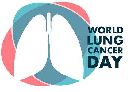 World Lung Cancer Day concept. August 1. Template for background, banner, card, poster with text inscription. Vector EPS10 illustration.