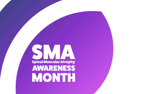August is Spinal Muscular Atrophy Awareness Month concept. Template for background, banner, card, poster with text inscription. Vettoriali