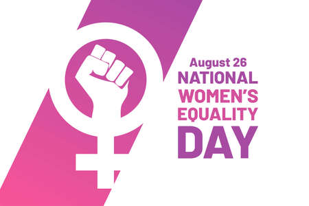 Women's Equality Day. August 26. Holiday concept. Template for background, banner, card, poster with text inscription.