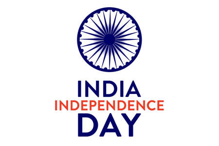 India Independence Day. 15 August. Holiday concept. Template for background, banner, card, poster with text inscription. Vector EPS10 illustration.